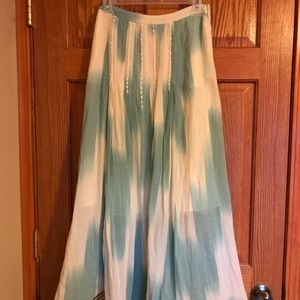 Dresses & Skirts - Turquoise and cream skirt size 2